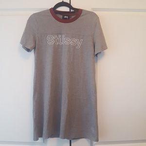 👗Stussy tee shirt dress👗
